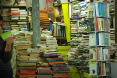 Stacks of books at Libreria Acqua Alta (Venice)