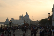 Sunset near the Palazzo Ducale or Doge's Palace (Venice)