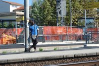 Man waiting for train (Pisa)