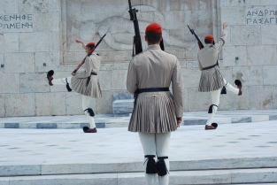 Changing of the Guard Ceremony at Syntagma Square (Athens)
