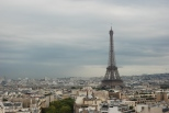 Eiffel Tower from Arch de Triomphe (Paris)