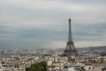 Eiffel Tower from Arch de Triomphe (Paris)